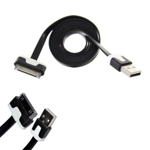 iPhone Kabel 1m 30-Pin Ladekabel USB 2.0 Datenkabel schwarz