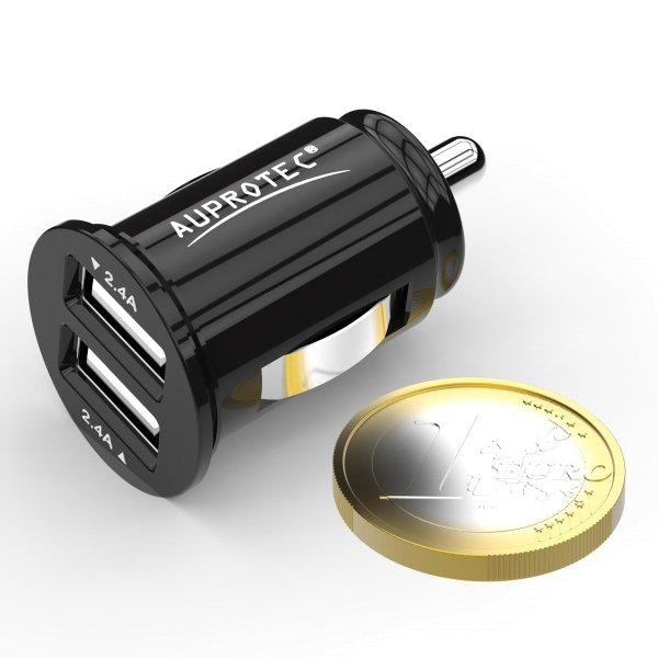 USB Adapter iX-4 Dual Mini Auto Ladegerät 4.8A